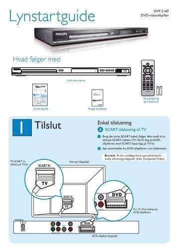 Philips Lecteur de DVD avec USB - Guide de mise en route - DAN