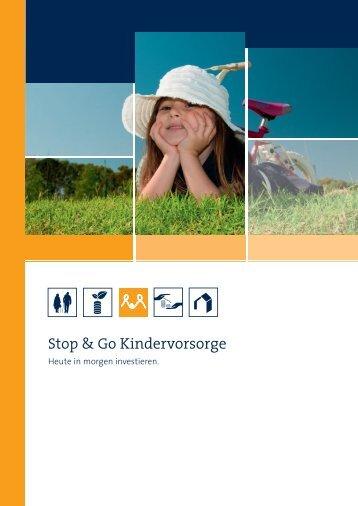 Produktbroschüre Stop & Go Kindervorsorge