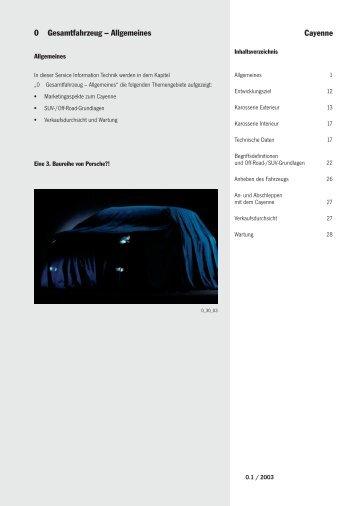 0 Gesamtfahrzeug - Porsche Cayenne