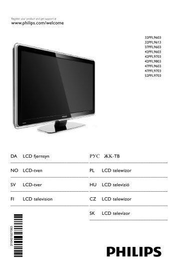 Philips TV LCD - Mode d'emploi - DAN