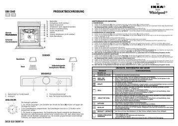 KitchenAid 300 947 71 - Oven - 300 947 71 - Oven DE (857915716010) Scheda programmi
