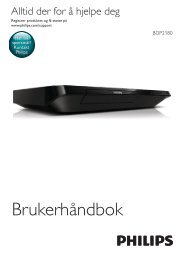 Philips Lecteur Blu-ray / DVD - Mode d'emploi - NOR