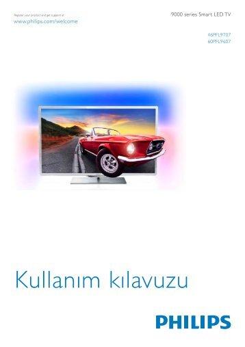 Philips 9000 series Téléviseur LED Smart TV - Mode d'emploi - TUR