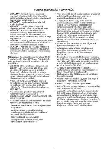 KitchenAid B 18 A1 D V E S/I - Fridge/freezer combination - B 18 A1 D V E S/I - Fridge/freezer combination HU (853903801510) Istruzioni per l'Uso