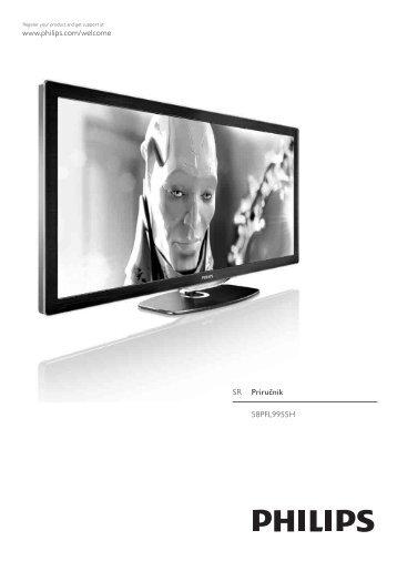 Philips Cinema 21:9 Téléviseur LED - Mode d'emploi - SRP