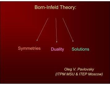 Born-Infeld Theory: