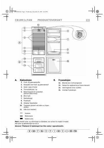 KitchenAid A 300 A/E04 - Fridge/freezer combination - A 300 A/E04 - Fridge/freezer combination NO (853976312010) Scheda programmi