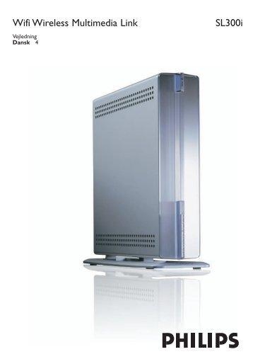 Philips Streamium Adaptateur multimédia sans fil - Mode d'emploi - DAN