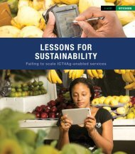 LESSONS FOR SUSTAINABILITY