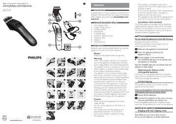 QC5170/02 Philips tondeuse pour se couper les cheveux soi-même