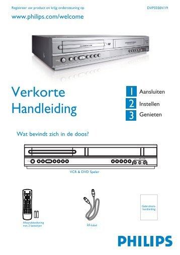 Philips Lecteur de DVD/Magnétoscope - Guide de mise en route - NLD