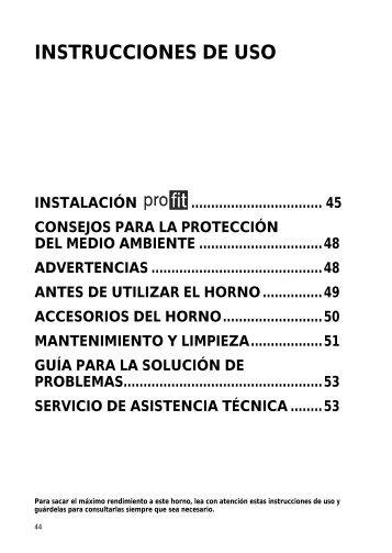 KitchenAid 20123000 - Oven - 20123000 - Oven ES (857921101510) Istruzioni per l'Uso