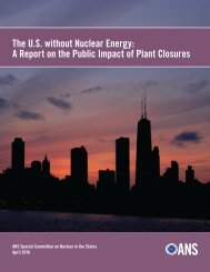 The U.S without Nuclear Energy A Report on the Public Impact of Plant Closures