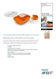 Philips Lunch box Philips Avent 6 mois et + - Fiche Produit - FRA