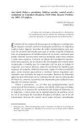Ana Infeld. Pobres y prostitutas. Políticas sociales, control social y ...