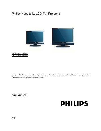 Philips Téléviseur LCD professionnel - Mode d'emploi - NLD