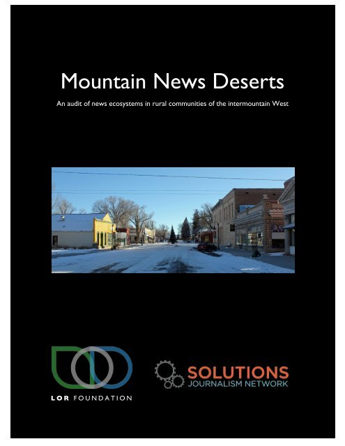 Mountain News Deserts