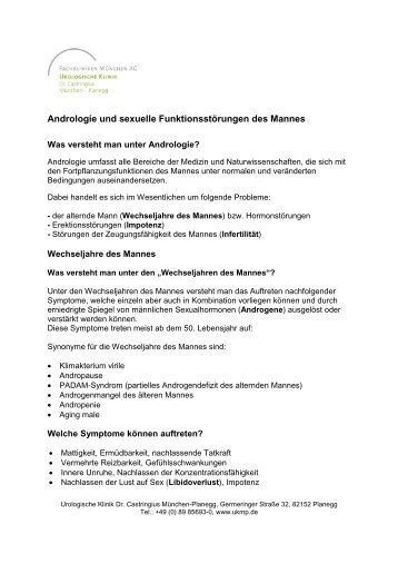 Andrologie - Urologische Klinik Dr. Castringius, München-Planegg