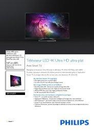 Philips 6800 series Téléviseur LED Ultra HD 4K Smart TV ultra-plat - Fiche Produit - FRA