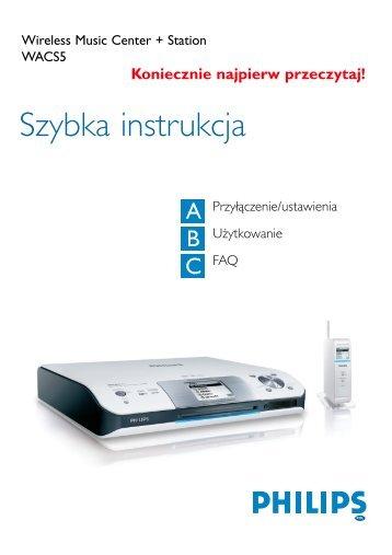 Philips Streamium Streamium Audio - Guide de mise en route - POL