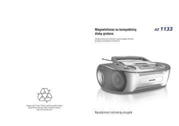 Philips Lecteur de CD - Mode d'emploi - LIT