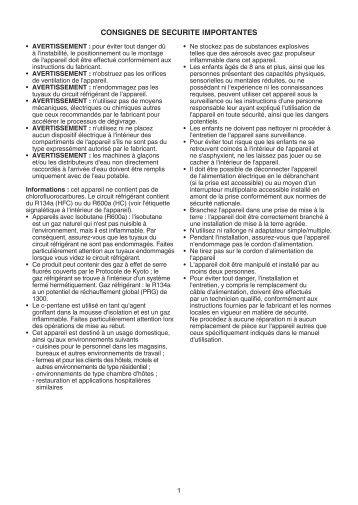 KitchenAid ZSIN 1801 AA - Refrigerator - ZSIN 1801 AA - Refrigerator FR (859991009280) Istruzioni per l'Uso