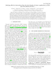 Inferring effective interactions from the local density of states ...