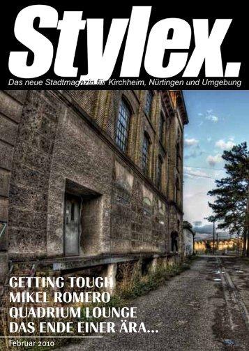 GETTING TOUGH MIKEL ROMERO QUADRIUM ... - Stylex Magazin