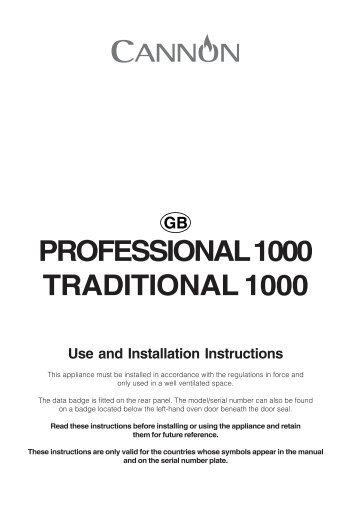 KitchenAid 10450G - Cooker - 10450G - Cooker EN (F053962) Istruzioni per l'Uso