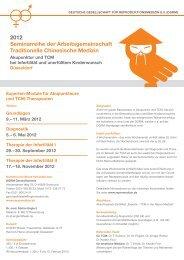 2012 Seminarreihe der Arbeitsgemeinschaft Traditionelle ...