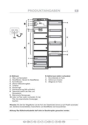 KitchenAid 905.2.12 - Refrigerator - 905.2.12 - Refrigerator DE (855164616000) Scheda programmi