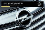 Opel Vivaro Infotainment Manual MY 16.5 - Vivaro Infotainment Manual MY 16.5 manuale