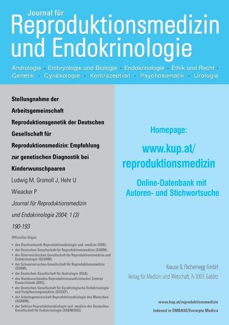 Empfehlungen zur genetischen Diagnostik bei Kinderwunschpaaren
