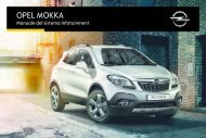 Opel Mokka Infotainment Manual MY 16.0 - Mokka Infotainment Manual MY 16.0 manuale