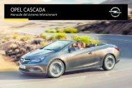 Opel Nuova Cascada Infotainment Manual MY 16.5 - Nuova Cascada Infotainment Manual MY 16.5 manuale