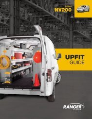 Nissan NV200 Upfit Guide