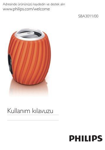 Philips Enceinte portable - Mode d'emploi - TUR