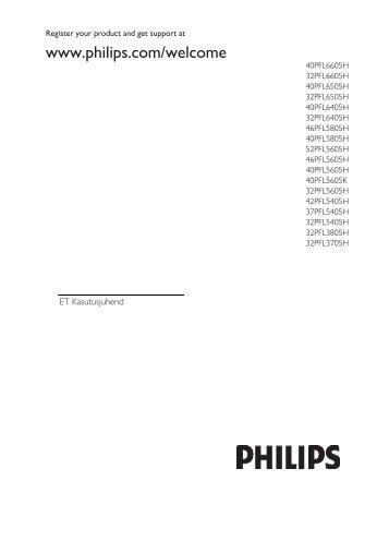 Philips Téléviseur LED - Mode d'emploi - EST