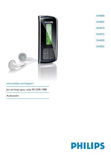 Philips Baladeur audio à mémoire flash - Mode d'emploi - FIN