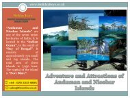 Adventure and Attractions of Andaman and Nicobar Islands - HolidayKeys.co.uk
