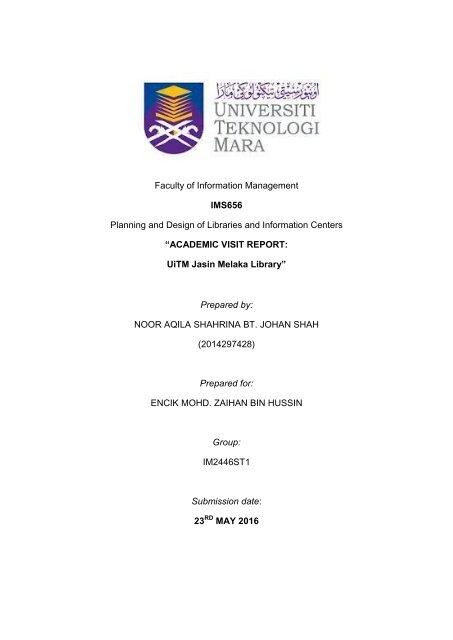 Academic Visit Report Full