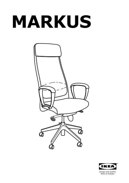 Markus Sedia Da Ufficio.Ikea Markus Sedia Da Ufficio 20309729 Istruzioni Montaggio