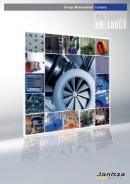 Energy Management Systems - Janitza Electronics GmbH