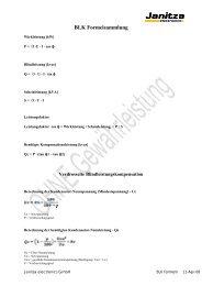 BLK Formelsammlung - Janitza Electronics GmbH