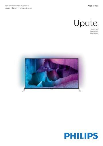 Philips 7600 series Téléviseur UHD 4K ultra-plat avec Android™ - Mode d'emploi - HRV