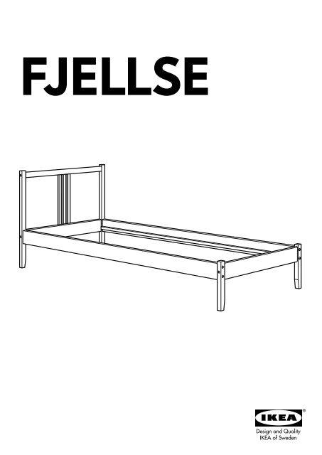 Ikea Fjellse Struttura Letto 40180565 Istruzioni Di Montaggio