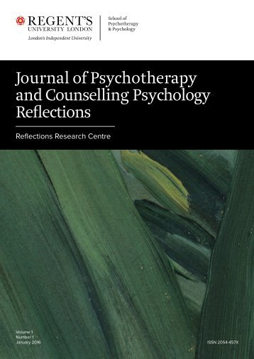 Journal of Psychotherapy and Counselling Psychology Reflections