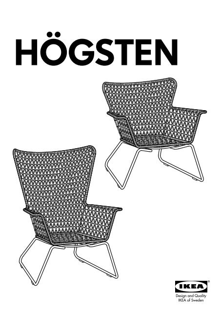 Poltrone Ikea Da Giardino.Ikea Hogsten Poltrona Da Giardino 50209865 Istruzioni Montaggio