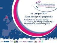 ITS Glasgow 2016 a walk through the programme