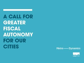 GREATER FISCAL AUTONOMY FOR OUR CITIES